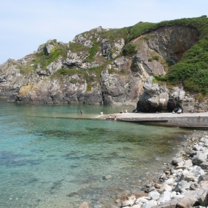 Lanvers. Just along from Pors Piron. Good for fishing, diving or launching a boat.
