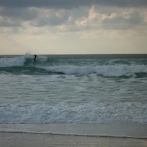 Penhors. Winter surfing. Great fun to watch.