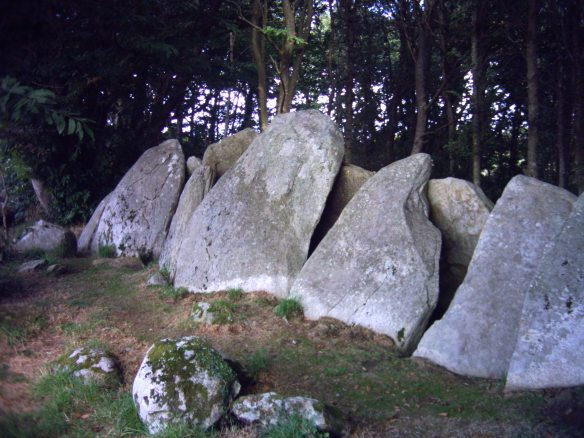 "Lesconil. An example of the type of megalith known as an ""Arc Bouteille""."