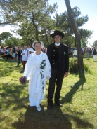 A Breton bride and groom.